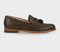 Gold 'Steven' Loafers