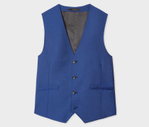 A Suit To Travel In - Tailored-Fit Indigo Wool-Mohair Blend Waistcoat