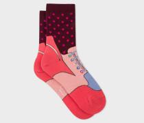 Pink 'Trainer' Pattern Socks