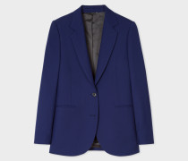 A Suit To Travel In -  Indigo Two-Button Wool Blazer