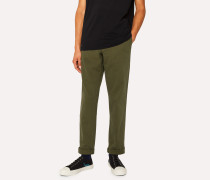 Mid-Fit Khaki Stretch-Cotton Chinos