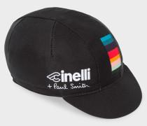 + Cinelli Black 'Artist Stripe' Detail Cycling Cap