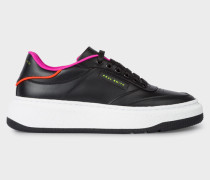 Black Leather 'Hackney' Trainers