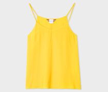 Canary Yellow Silk-Blend Cami Top
