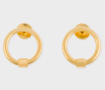 Rachel Entwistle + - Gold Circular Stud Earrings