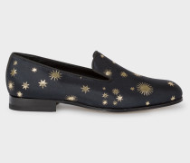Dark Navy 'Gold Star' 'Rudyard' Loafers