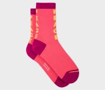 Pink 'Peace' Socks