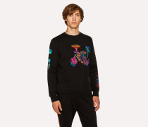 Black 'Florian' Embroidered Sweatshirt