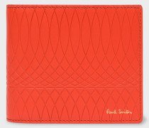 No.9 - Scarlet Red Leather Billfold Wallet With Red And Black Interior