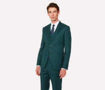 Slim-Fit Forest Green Wool And Cashmere-Blend Blazer