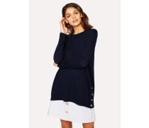 Navy Oversized Wool Sweater