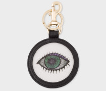 'Eye' Motif Lenticular Leather Keyring