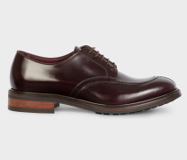 Burgundy Calf Leather 'Andrew' Derby Shoes