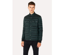 Dark Green Lightweight Down-Filled Jacket