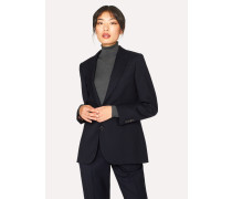 A Suit To Travel In -  Dark Navy Two-Button Wool Blazer