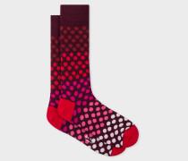 Burgundy Gradient Polka Dot Socks