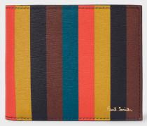 'Bright Stripe' Leather Billfold Wallet