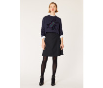 Dark Navy Wool-Twill 'A Skirt To Travel In'