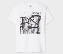White 'PS' Print T-Shirt