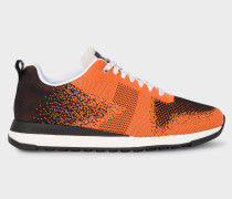 Black And Orange 'Rappid' Knitted Trainers