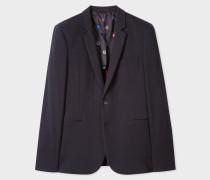 Dark Navy Cotton-Jersey Blazer