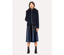 Navy Ombre Pleated Skirt
