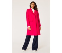 Fuchsia Wool And Cashmere-Blend Epsom Coat