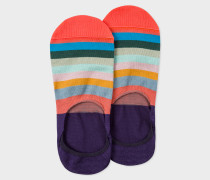 Purple 'Artist Stripe' Loafer Socks