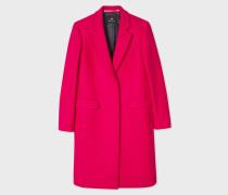 Fuchsia Wool And Cashmere-Blend Epsom Coat