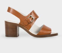 Tan Leather 'Leven' Heeled Sandals