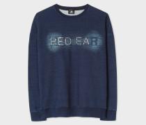 Indigo 'Red Ear' Embroidered Cotton Sweatshirt