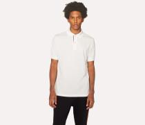 Slim-Fit White Cotton-Piqué Polo Shirt With 'Artist Stripe' Placket