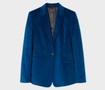 Slim-Fit Blue Corduroy Stretch-Cotton Blazer