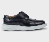 Dark Navy 'Dixon' Leather Brogues
