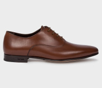 Dark Tan 'Fleming' Calf Leather Oxford Shoes