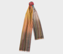 Signature Stripe Gradient Wool-Blend Scarf