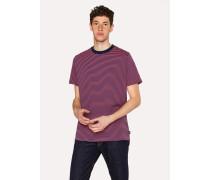 Orange And Navy Stripe Organic-Cotton T-Shirt