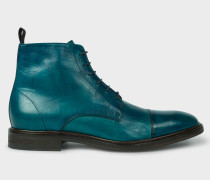 Dip-Dyed Teal Calf Leather 'Jarman' Boots