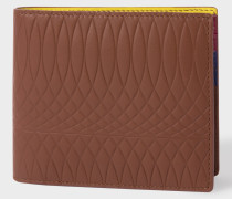 No.9 - Brown Leather Billfold Wallet With Multi-Coloured Interior