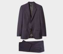 The Mayfair - Classic-Fit Dark Purple Wool-Mohair Suit