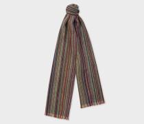 Signature Stripe Herringbone Lambswool Scarf