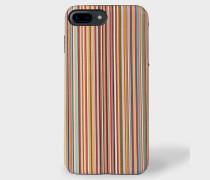 'Signature Stripe' Leather iPhone 7/8 Plus Case