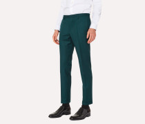 Slim-Fit Forest Green Wool And Cashmere-Blend Trousers