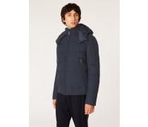 Loro Piana Rain System® Navy Down-Filled Jacket With Gradient 'Artist Stripe' Lining