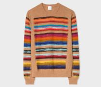 Camel Wool-Blend Multi-Coloured Stripe Sweater