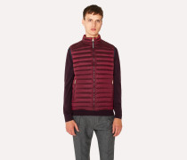 Burgundy Quilted Down Gilet