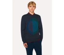 Navy 'Paint Spot' Merino Wool-Blend Sweater