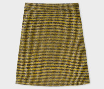 Black And Yellow Dogtooth Pattern Skirt