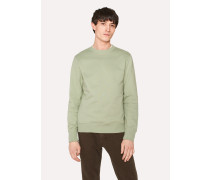 Sage Green Organic-Cotton Sweatshirt