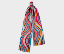 Long Multi-Colour 'Swirl' Silk Scarf